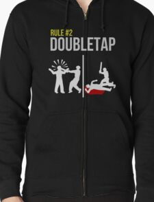 Zombie Survival Guide - Rule #2 - Doubletap Zipped Hoodie