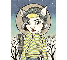 Cat-Girl Photographic Print