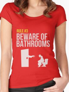 Zombie Survival Guide - Rule #3 - Beware of Bathrooms Women's Fitted Scoop T-Shirt