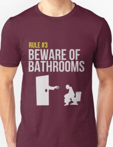 Zombie Survival Guide - Rule #3 - Beware of Bathrooms T-Shirt