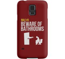 Zombie Survival Guide - Rule #3 - Beware of Bathrooms Samsung Galaxy Case/Skin