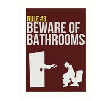 Zombie Survival Guide - Rule #3 - Beware of Bathrooms Art Print