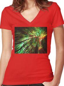 Rainforest Women's Fitted V-Neck T-Shirt