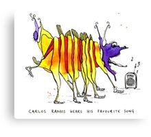 Carlos Ramos hears his favourite song Canvas Print