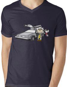 Doc Brown Mens V-Neck T-Shirt