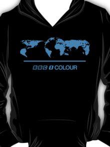 Retro BBC 1 Colour globe graphics T-Shirt