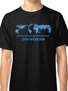 Retro BBC 1 Colour globe graphics Classic T-Shirt