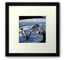 Space Walk Astronaut Framed Print