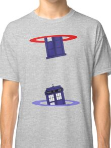 Police Box in a Portal. Classic T-Shirt