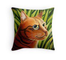 Rousseaus' Cat Throw Pillow