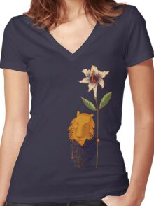 Guardian of Dreams Women's Fitted V-Neck T-Shirt
