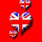Union Jack - Triple Heart by sandnotoil