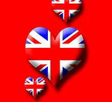 Union Jack - Triple Heart by sandnotoil