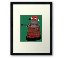 Festive Dalek. Framed Print