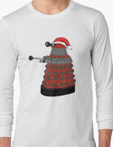 Festive Dalek. Long Sleeve T-Shirt