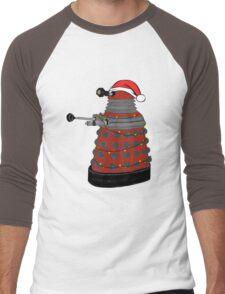 Festive Dalek. Men's Baseball ¾ T-Shirt