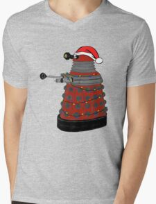 Festive Dalek. Mens V-Neck T-Shirt