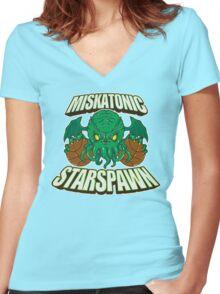 Miskatonic Starspawn Women's Fitted V-Neck T-Shirt