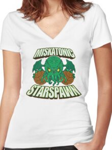Miskatonic Starspawn Women's Fitted V-Neck T-Shirt