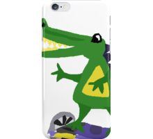 Funny Cool Alligator on Motorized Skateboard iPhone Case/Skin
