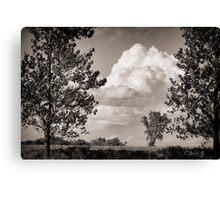 Prairie Clouds - B&W Canvas Print