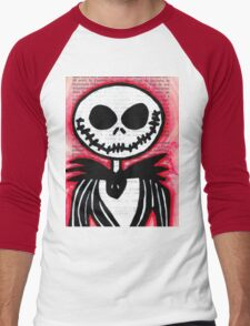 Jack Skellington Men's Baseball ¾ T-Shirt