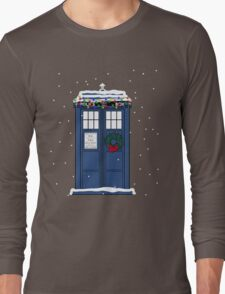 Festive Police Public Call Box. Long Sleeve T-Shirt