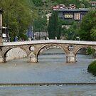 The Latin Bridge in Sarajevo by HELUA