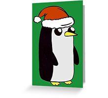 Festive Penguin. Greeting Card
