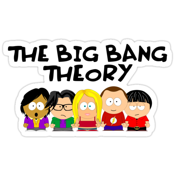 The Big Bang Theory as South Park by D4RK0