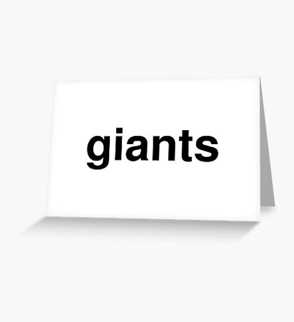 giants Greeting Card