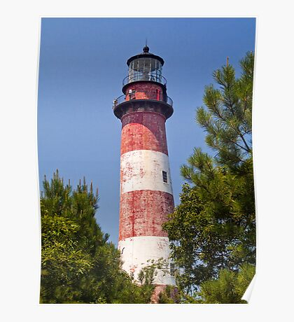 Assateague Island LIghthouse, Virginia Poster