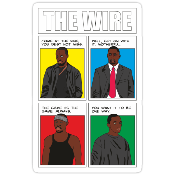 Bad Guys from The Wire, as comic by D4RK0