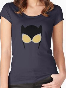 Catwoman Mask Women's Fitted Scoop T-Shirt