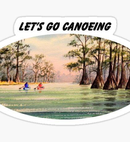 Let's Go Canoeing Sticker