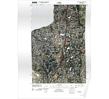 USGS Topo Map Washington State WA Poverty Bay 20110422 TM Poster