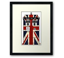 Union Jack Police Call Box. Framed Print
