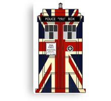 Union Jack Police Call Box. Canvas Print