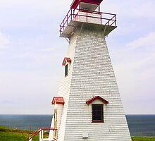 Cape Tryon Light, Prince Edward Island, Canada by Kenneth Keifer