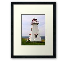 Cape Tryon Light, Prince Edward Island, Canada Framed Print