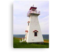 Cape Tryon Light, Prince Edward Island, Canada Canvas Print