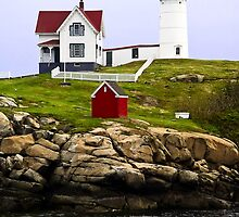 Cape Neddick's Nubble LIght, York, Maine by Kenneth Keifer