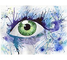 Watercolor Eye Illustration Photographic Print
