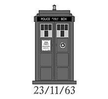 Classic Who Police Box. Photographic Print
