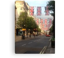 Oxford Street London Union Jacks Canvas Print