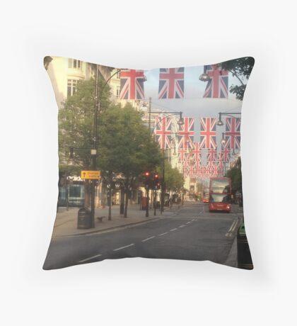 Oxford Street London Union Jacks Throw Pillow