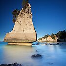 The Last Piece - Cathedral Cove, New Zealand by Matthew Kocin