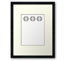 Baskerville Research Base [Triple logo] Framed Print