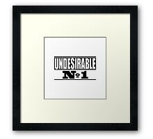 Undesirable  Framed Print