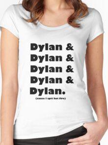 Dylan's Favorite Rapper List Women's Fitted Scoop T-Shirt
